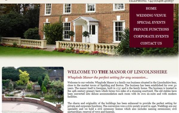 Whaplode Manor Wedding Venue